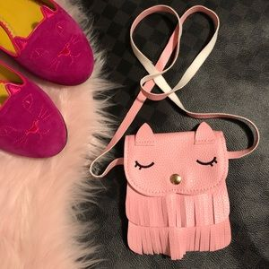 Other - Pink Crossbody Cat Purse for Toddlers / Girl's Bag